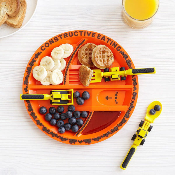 Constructive Eating Plate & Cutlery Set - Construction