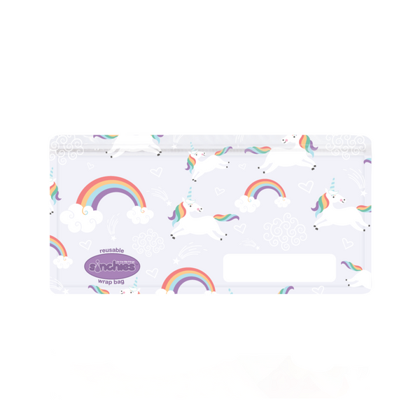 Sinchies Reusable Wrap Bags - 5 Pack - Unicorn Rainbows
