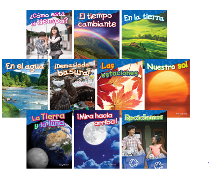 Teacher Created Materials Earth and Space, Grades K to 1, Spanish, Set of 10