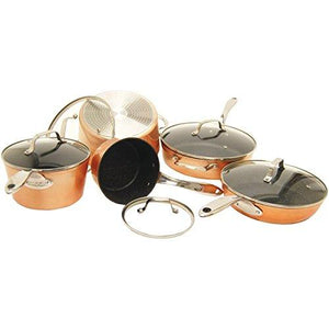 Starfrit 030910-001-0000 10 Piece Copper Cookware Set, Bronze