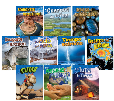 Teacher Created Materials Earth & Space Science, Grades 2 to 3, Spanish, Set of 10