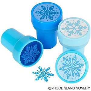 "Snowflake Stampers - Box 0f 24 Self-Inking Winter Design Stampers (1.38"" Tall)"