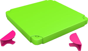 Chillafish BOXTOP Pack: Connectable Toy Storage and Play System Top, Lime/Pink