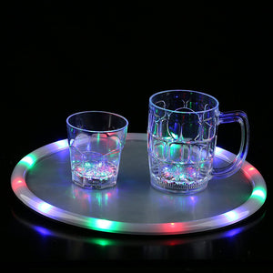 Fun Central P905 LED Light Up 14 Inch Serving Tray - Multicolor