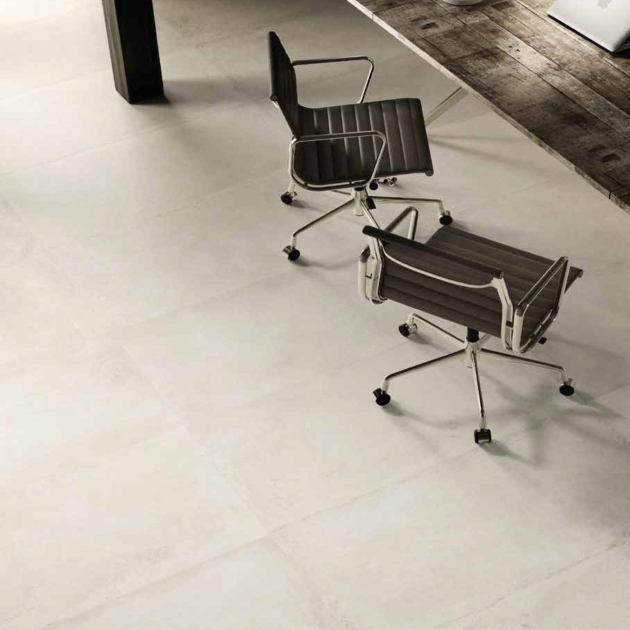 Walk Ivory Concrete Effect Italian Porcelain Wall & Floor Tiles