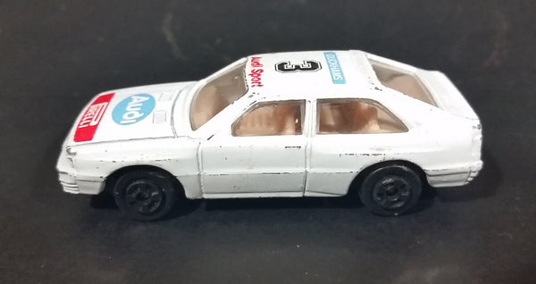 Vintage Audi Sport #3 Duckhams Pirelli White Die Cast Toy Racing Car Vehicle - Hong Kong - Treasure Valley Antiques & Collectibles
