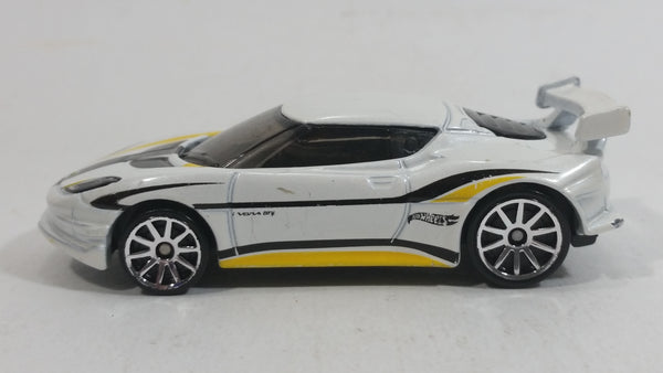 2014 Hot Wheels Showroom All Stars Lotus Evora GT4 White Die Cast Toy Dream Car Vehicle