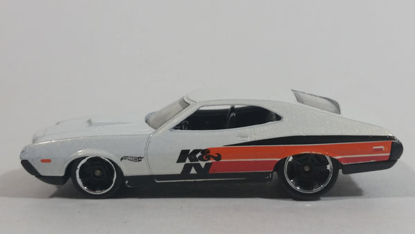 2013 Hot Wheels Performance Workshop '72 Ford Gran Torino Sport White K&N Die Cast Toy Muscle Car Vehicle