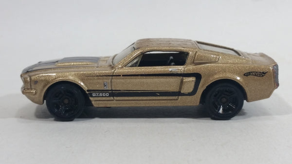 2011 Hot Wheels Muscle Mania '67 Shelby GT500 Metallic Gold Die Cast Toy Muscle Car Vehicle