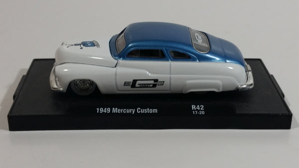 2017 M2 Machines 1949 Mercury Custom White and Blue Die Cast Toy Classic Car Vehicle R42 17-20