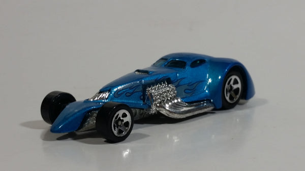 2007 Hot Wheels Heat Fleet Hammered Coupe Light Blue Die Cast Toy Car Hot Rod Vehicle