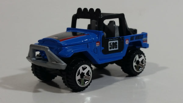 2010 Hot Wheels Toyota Land Cruiser FJ40 Blue Die Cast Toy Car Vehicle