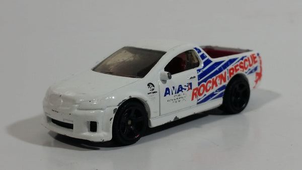 2012 Matchbox 2010 Holden UTE SSV Truck Rock 'N Rescue AMAS White Die Cast Toy Car Vehicle