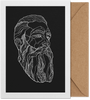 Folded Art Card A5 Abstract Bearded Man