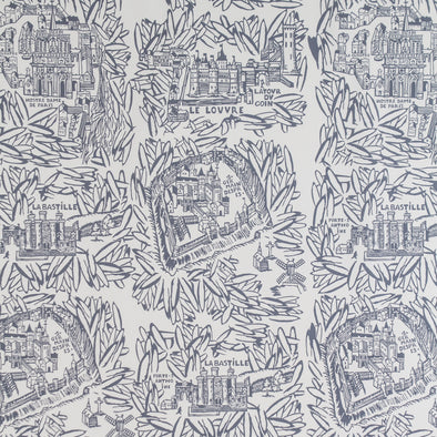 WALLPAPER PARIS GRIS BLEU