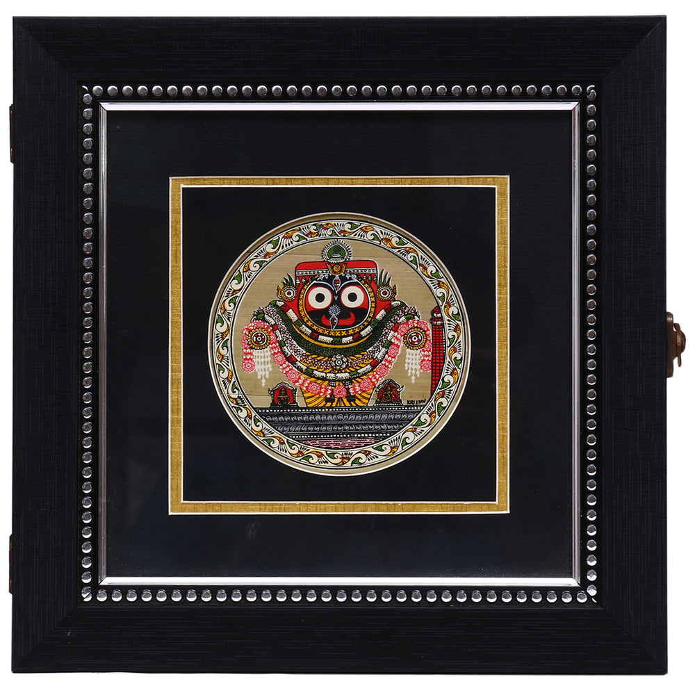 Palm leaf engraved Puri jagannath multipurpose Handmade Utility Box UB25
