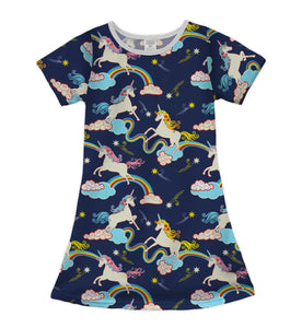 Whimsicle Unicorns & Rainbows Shift Dress