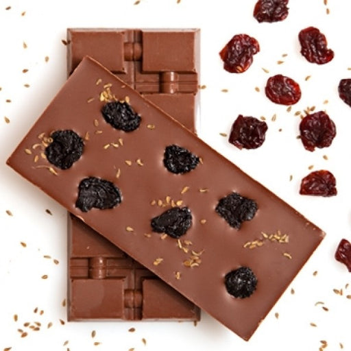 Milk Chocolate Bar With Cherries And Anise