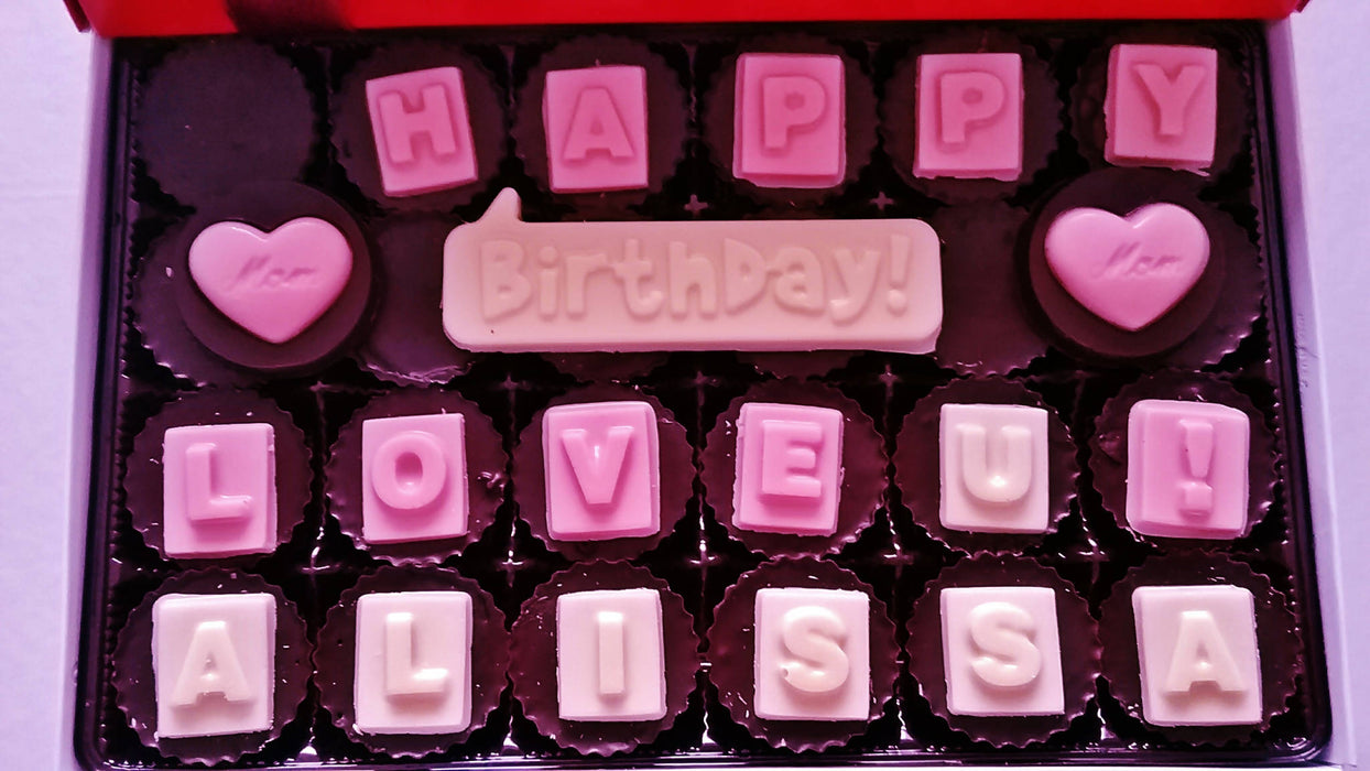 Peanut Butter Cups - Happy Birthday ! Personalized box of 24 count