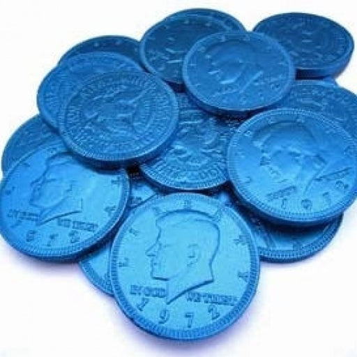 Blue Chocolate Coins 'Pack Of 160'