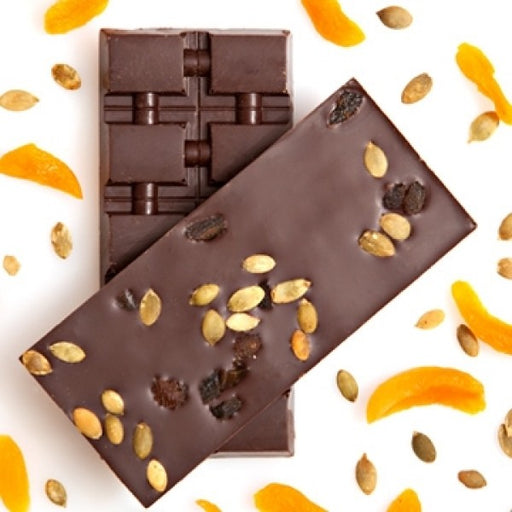 3 Single Origin Ecuadorian Dark Chocolate Bar With Apricots