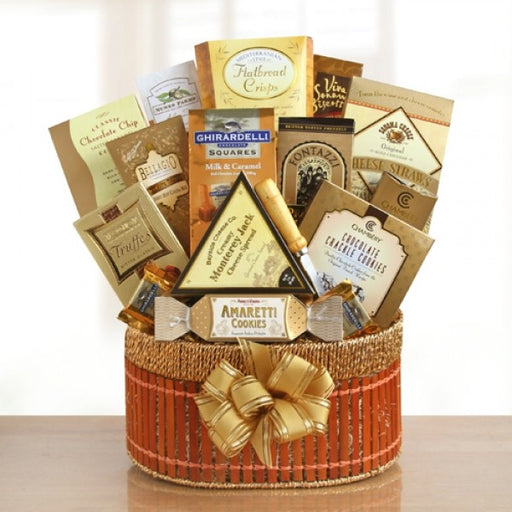 Golden Delights Gift Basket