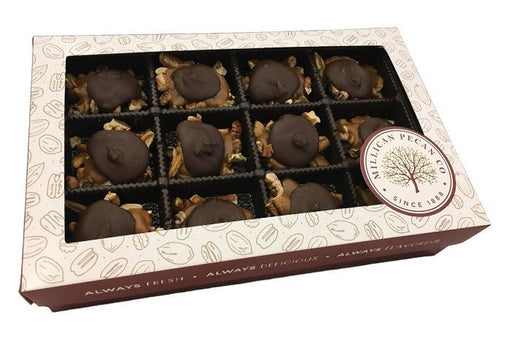 Dark Chocolate Caramillicans (Turtles) 16oz Gift Box- 24 pieces