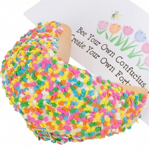 Spring Flowers White Chocolate Giant Fortune Cookie