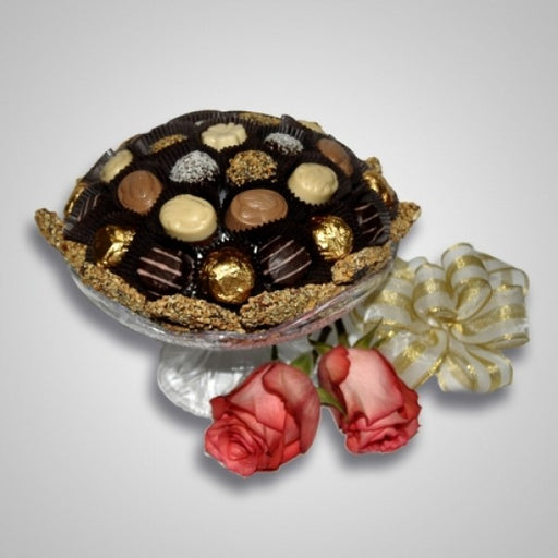 Chocolate Decorated Fruit Bowl