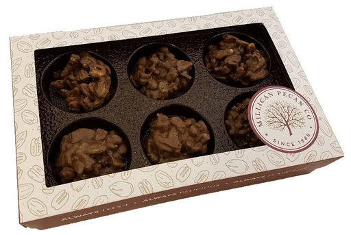 Chocolate Pecan Cluster Gift Box 16 oz- 12 pieces