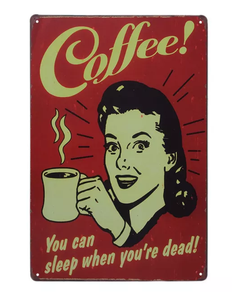 A4 coffee tin sign