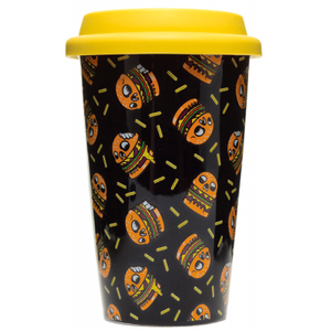 SOURPUSS SKULLBURGER TRAVEL MUG COFFEE CUP