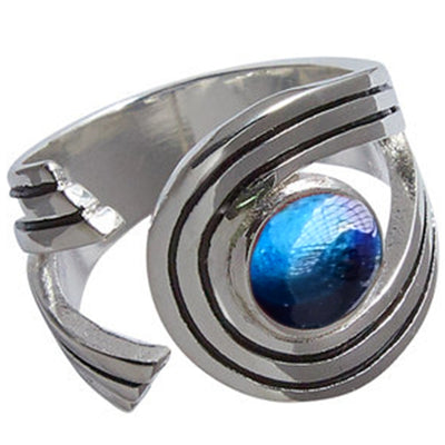 Heathergem Swirl Silver Plated Ring