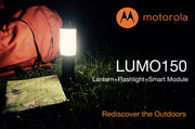 Motorola Outdoor LUMO MSL150 Hybrid Lantern + Flashlight (with Thermometer & Compass)