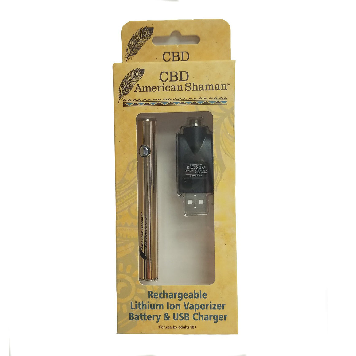 CBD American Shaman Rechargeable Inhaler Battery with Charger