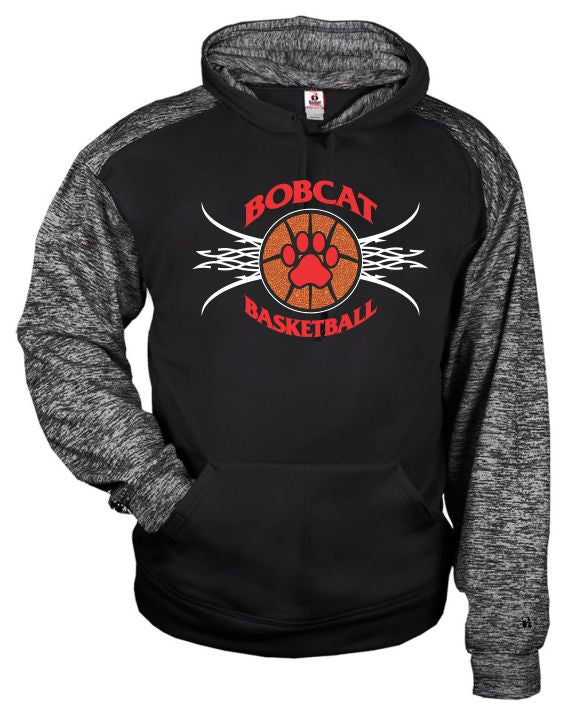 Brookings Bobcat Basketball - Badger - Sport Blend Youth Hood - 2462 - Design BB005
