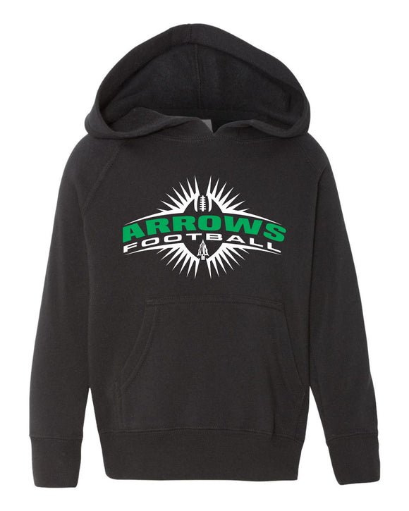 Pipestone Arrow Toddler Football Hooded Sweatshirt PHS02 #PRM10TSB