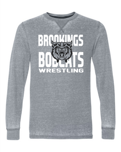 Brookings HS Wrestling AdultVintage Zen Thermal Long Sleeve T-Shirt - 8241 - Design 1003