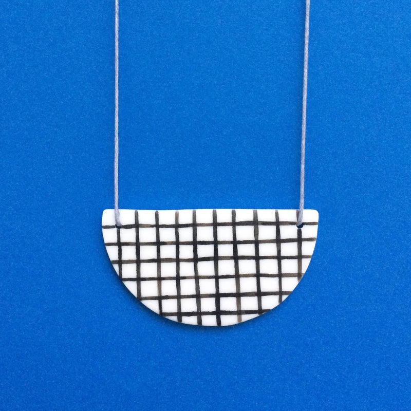 Grid Ceramic Necklace