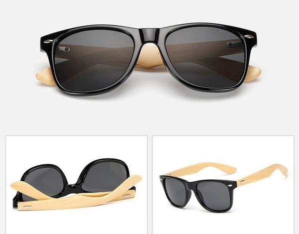 Original Wooden Bamboo Sunglasses Men Women Mirrored UV400 Sun Glasses Real Wood Shades Gold Blue Outdoor Goggles Sunglases Male