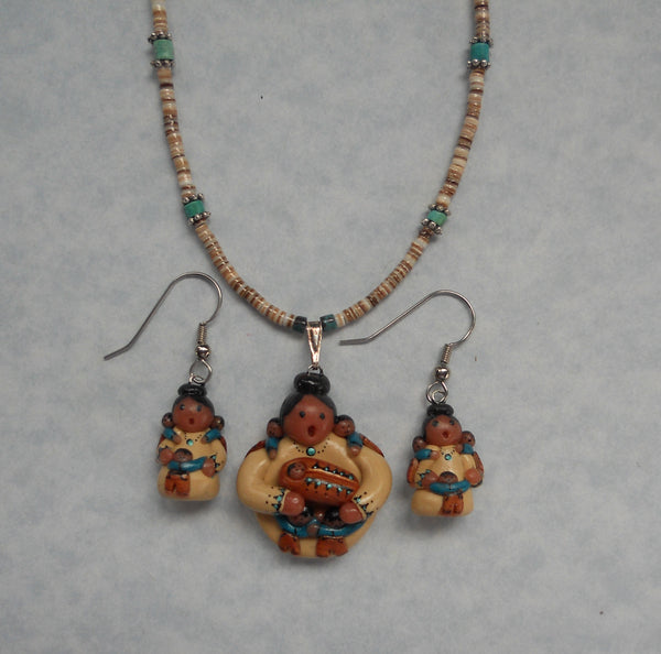 Figurine Necklace & Earrings