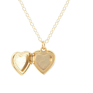 Kris Nations Small Heart Locket Gold N711-G