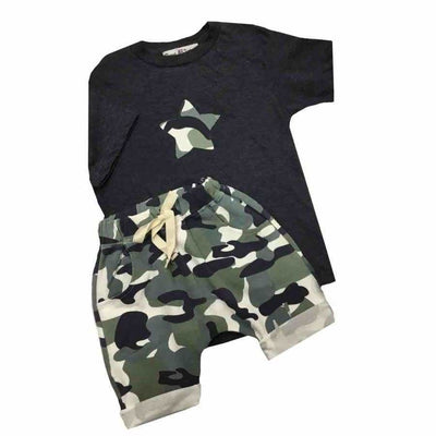 Sweet As Sugar Couture Boys Camo Set - Romper & Set