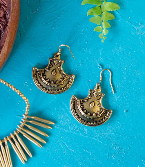 Maratha Queen Earrings - Gold
