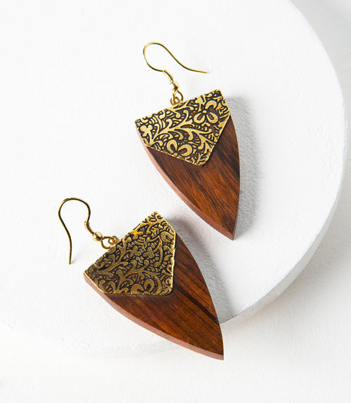 Durga Earrings - Arrowhead