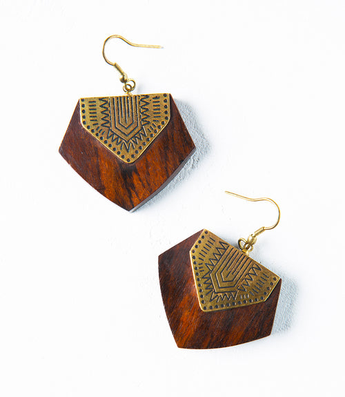 Durga Earrings - Shield