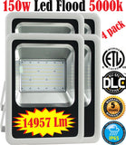 Outdoor Wall Lighting Canada: 4pack Led 150w 5000k Flood Commercial