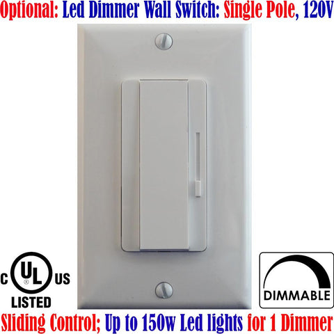 Single Pole Dimmer Switch: Canada 150w Led Dimmer Switch Dimmable 120V