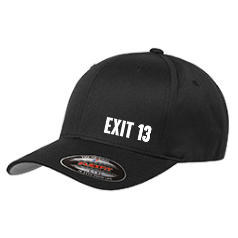 Exit 13 Black Flexfit Hat (Cooler By Mile back)