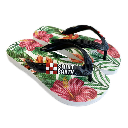 Girls Tropical Paradise Flip Flops